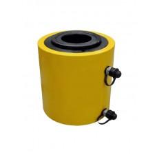 Домкрат гидравлический TOR ДП100Г100 (HHYG-100100KS), 100 т с полым штоком