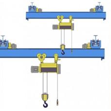 Кран мостовой однобалочный подвесной однопролётный г/п 1 т пролет 15,0 м