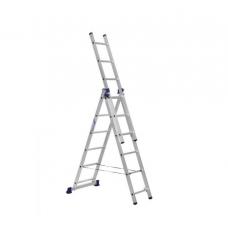 Лестница 3-секционная алюминиевая TOR VL3-8
