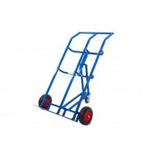 Тележка для баллонов ТГК-П пропан + кислород, 2 б 2 колеса d 250мм пневм, 1 колесо d 160мм резина